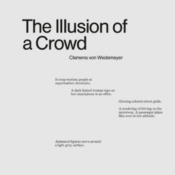 Illusion einer Menschenmenge
