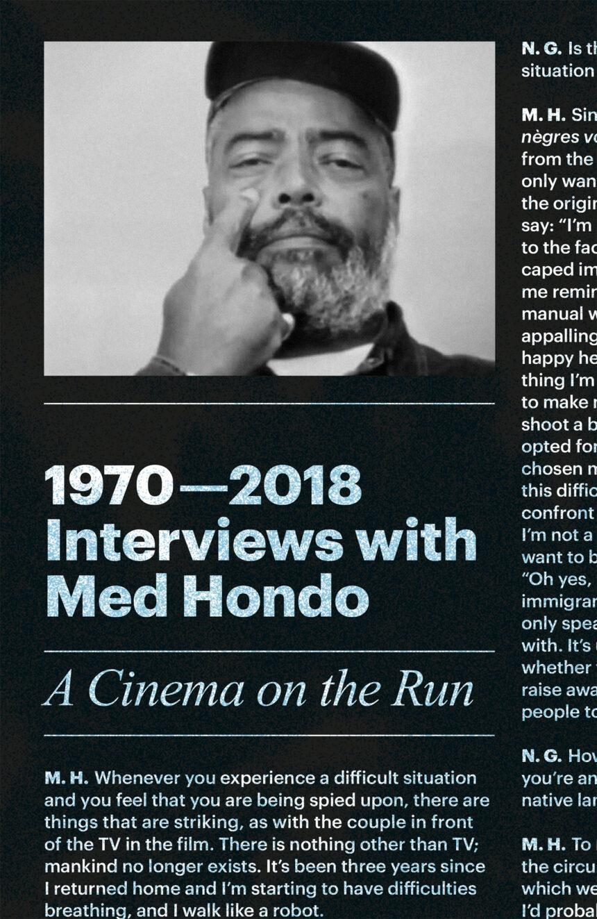 1970—2018 Interviews with Med Hondo